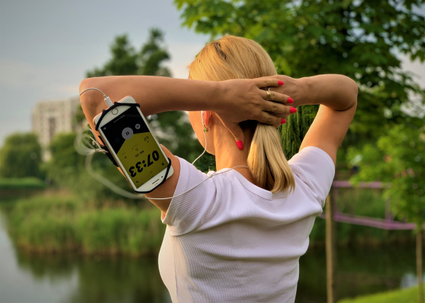 Husa Banderola pentru brat / mana cu 360° rotire si cu acces usor la ecran, pentru alergat, sala, bicicleta, drumetii, Negru [7]