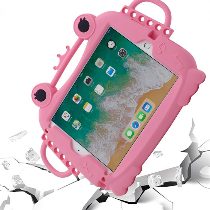 Husa protectie tableta, pentru copii, silicon, iPad Air, iPad Air 2, iPad Pro 9.7, iPad New 9.7, protectie silicon antisoc rezistenta la lovituri, acces la toate porturile, Broasca, roz [2]