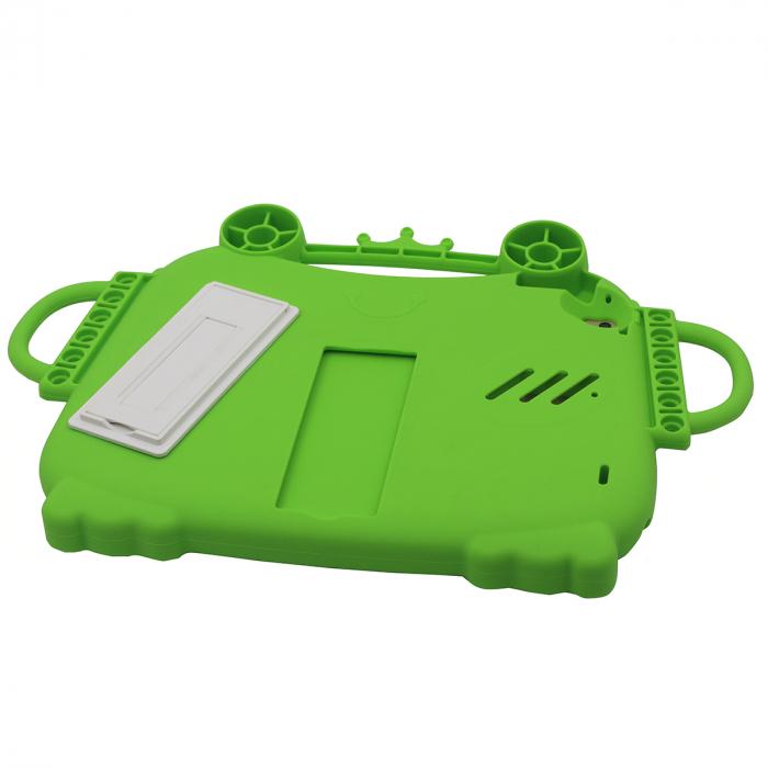 Husa protectie tableta, pentru copii, silicon, iPad Air, iPad Air 2, iPad Pro 9.7, iPad New 9.7, protectie silicon antisoc rezistenta la lovituri, acces la toate porturile, Broasca, verde [5]