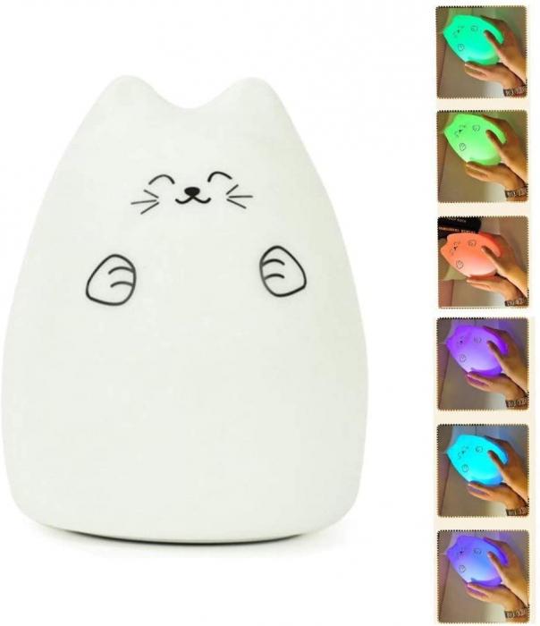 Lampa de veghe Om de Zapada cu palarie, incarcare USB, touch control [2]