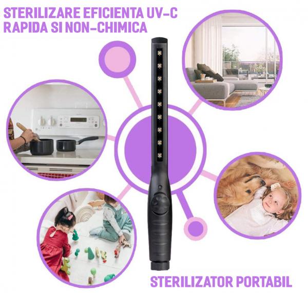 Lampa sterilizatoare UV-C 2W bactericida. [4]