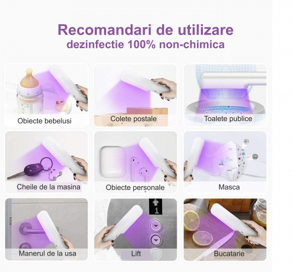 Lampa UVC bagheta bactericida 7 W, alb [2]