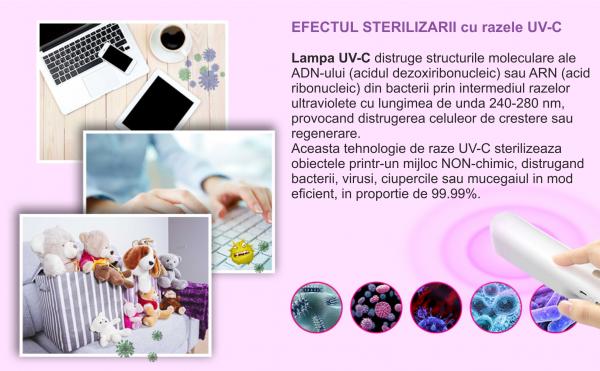 Lampa UVC bagheta bactericida 7 W, alb [3]