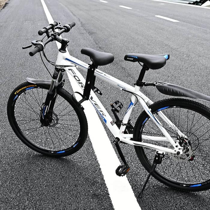 Scaun copil pentru bicicleta cu montaj pe cadru, 2-7 ani, capacitate 32 kg, cu suport pentru picioare, cu ghidon auxiliar pentru copil, negru [8]
