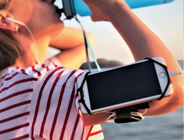 Set 2 unitati Husa Banderola pentru brat / mana cu 360° rotire si cu acces usor la ecran, pentru alergat, sala, bicicleta, drumetii, Negru [10]
