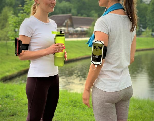 Set 2 unitati Husa Banderola pentru brat / mana cu 360° rotire si cu acces usor la ecran, pentru alergat, sala, bicicleta, drumetii, Negru [5]