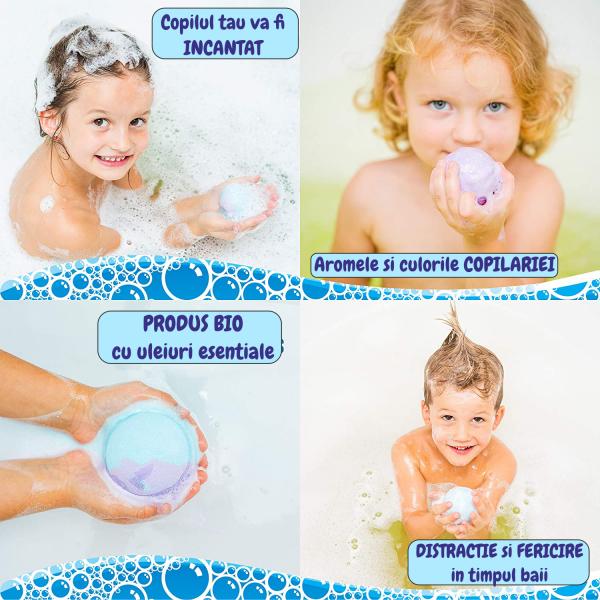 Set 6 bile efervescente pentru baie, produs BIO [3]