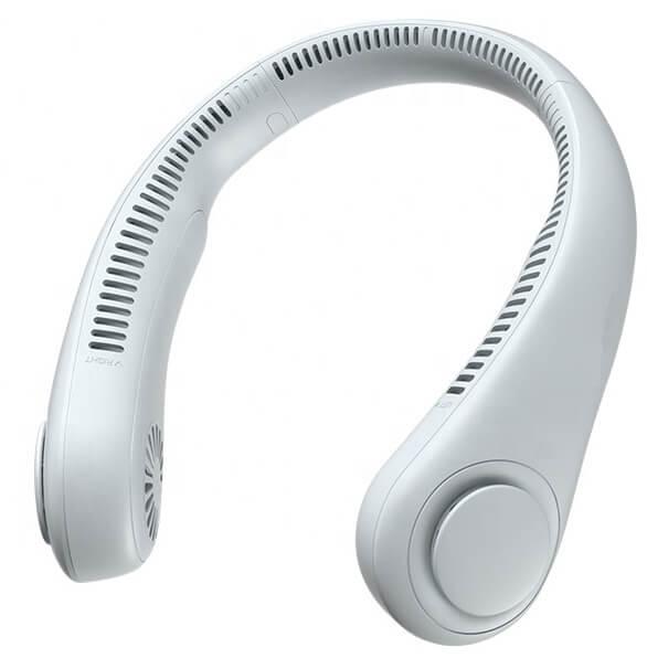Mini ventilator portabil pentru gat, 3 trepte de viteza, USB, pana la 8 ore de functionare, acumulatori 4000 mA, alb [0]