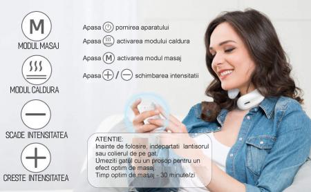 Aparat masaj cervical, portabil, USB [3]