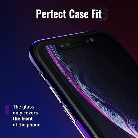 Folie sticla iPhone 11 / iPhone XR, set 2 buc, DefenSlim, instalare rapida cu dispozitiv de potrivire automata in 30 sec [2]