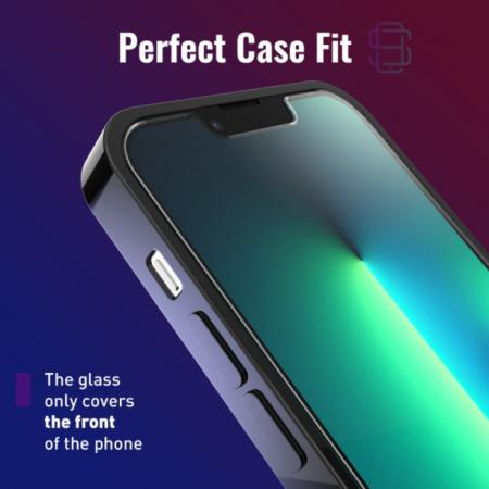 Folie sticla iPhone 13 Mini, set 2 buc, DefenSlim, instalare usoara cu dispozitiv de potrivire automata, Easy Install Kit patentat [4]
