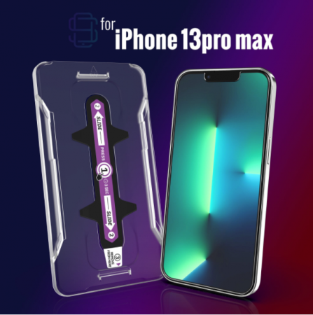 Folie sticla iPhone 13 Pro, set 2 buc, DefenSlim, instalare usoara cu dispozitiv de potrivire automata, Easy Install Kit patentat [2]