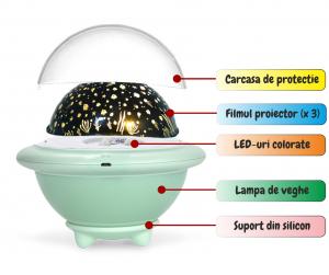 Lampa de veghe OZN, alb [1]