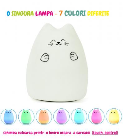 Lampa de veghe Om de Zapada cu palarie, incarcare USB, touch control [3]