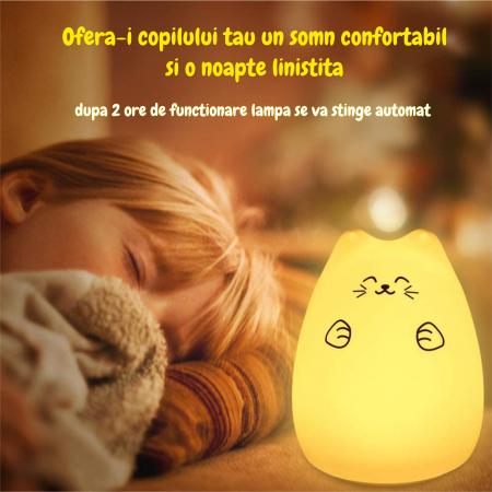Lampa de veghe Om de Zapada cu palarie, incarcare USB, touch control [4]
