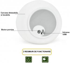Lampa de veghe Om de Zapada cu palarie, incarcare USB, touch control [8]