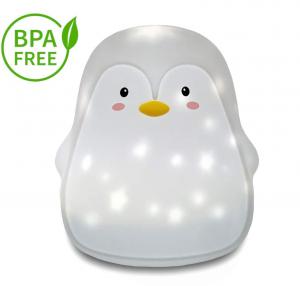 Lampa de veghe portabila Pinguin, LED 3 culori, incarcare USB, reglabila. [0]