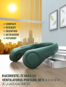 Ventilator pentru gat, 3 trepte de viteza, USB [3]