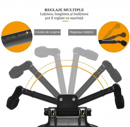 Adaptor de carucior pentru al doilea copil, remorca carucior, platforma buggy board cu scaun demontabil, 2 roti, capacitate 25 kg, universal, negru [6]