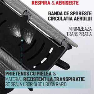 Set 2 unitati Husa Banderola pentru brat / mana cu 360° rotire si cu acces usor la ecran, pentru alergat, sala, bicicleta, drumetii, Negru [2]