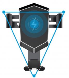 Suport de telefon cu incarcare wireless pentru grila de ventilatie, UNIVERSAL [1]