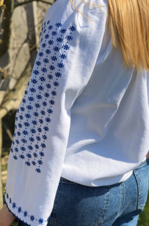 Ie traditionala femei motiv albastru [0]