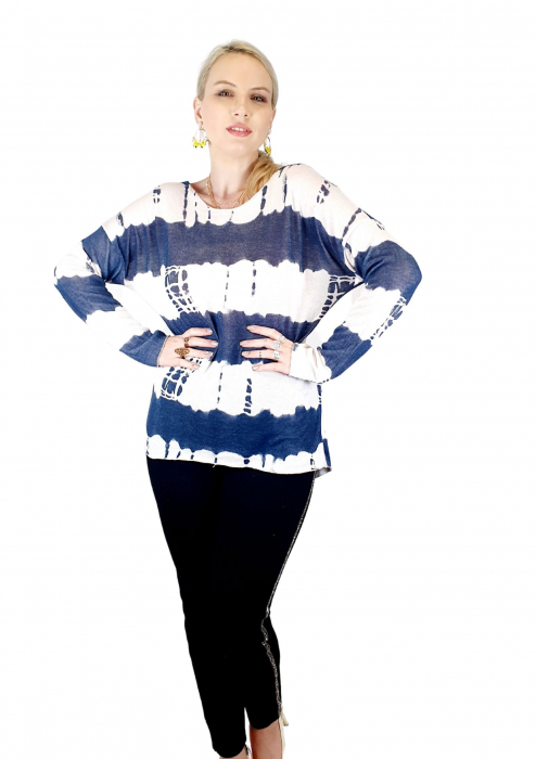 Bluza de dama cu imprimeu, maneci lungi (3) [3]