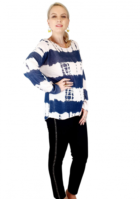 Bluza de dama cu imprimeu, maneci lungi (3) [2]