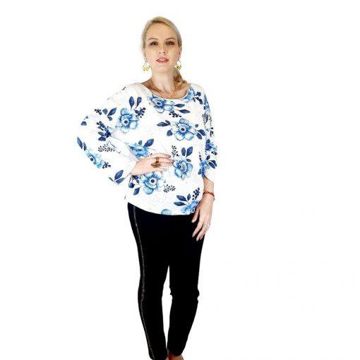 Bluza de dama cu imprimeu, maneci lungi (7) 2