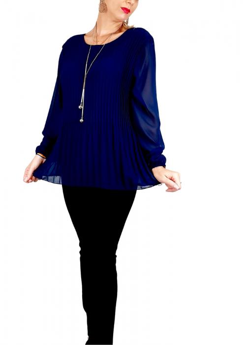 Bluza plisata Bleumarin Camelia 2 [0]