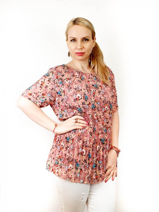 Bluza Plisata cu Floricele - Marieta [1]