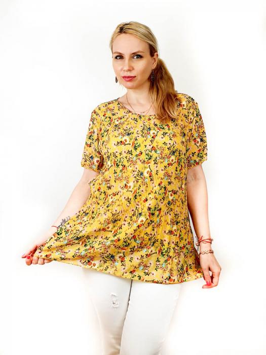 Bluza Plisata cu Floricele - Marieta [3]