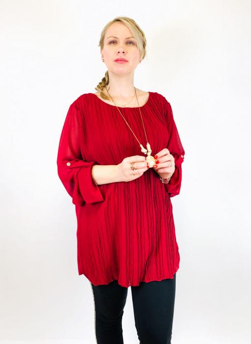 Bluza plisata Grena Camelia [0]