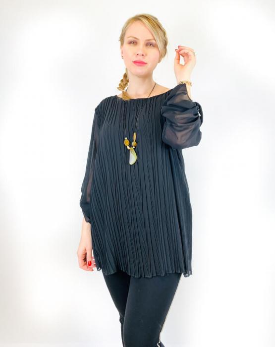 Bluza plisata Neagra Camelia [2]