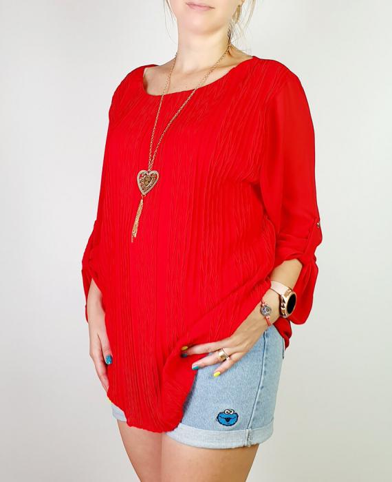 Bluza plisata Rosu Camelia [1]