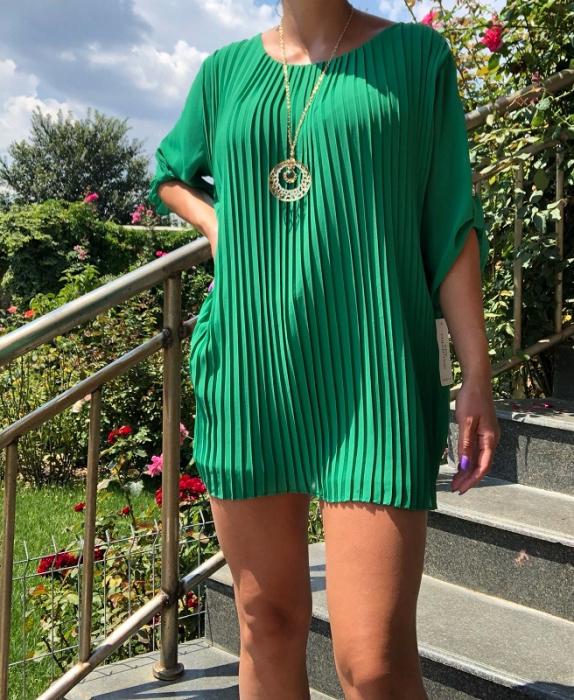 Bluza plisata Verde Camelia [2]