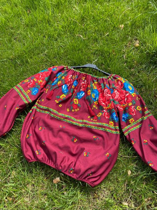 Bluza stilizata cu motive florale Sanziana 21 [0]