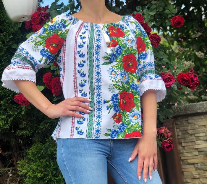 Bluza stilizata cu motive traditionale Daniela 15 [0]