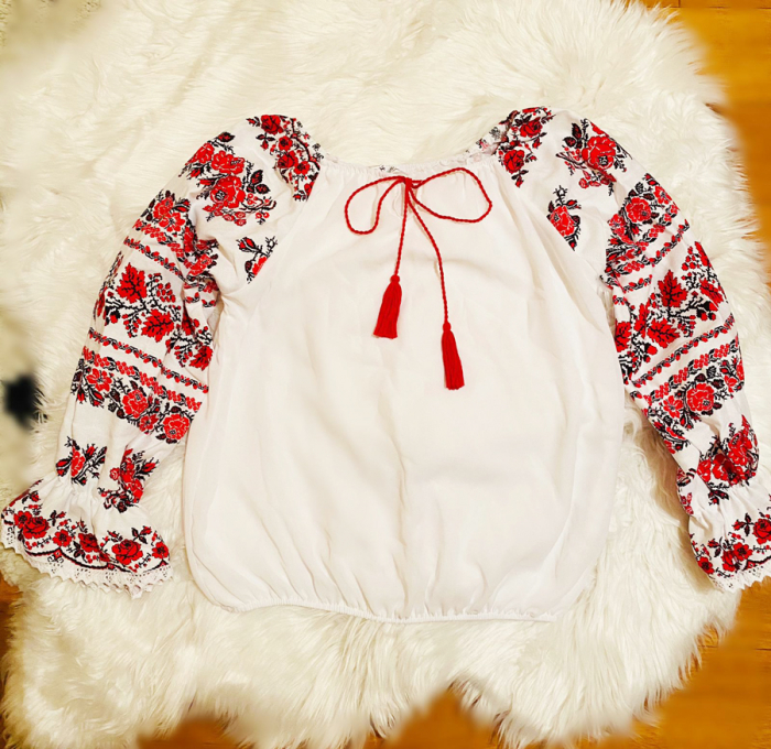 Bluza stilizata cu motive traditionale Margareta [4]