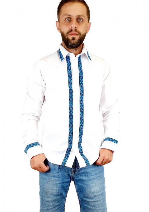 Camasa barbateasca cu motive traditionale - Model I [0]