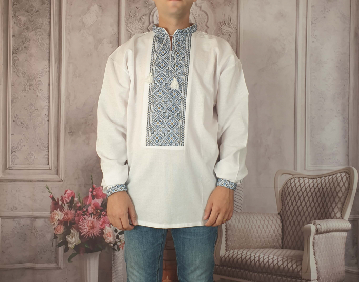 Camasa Traditionala cusuta manual Dinu 3 [0]