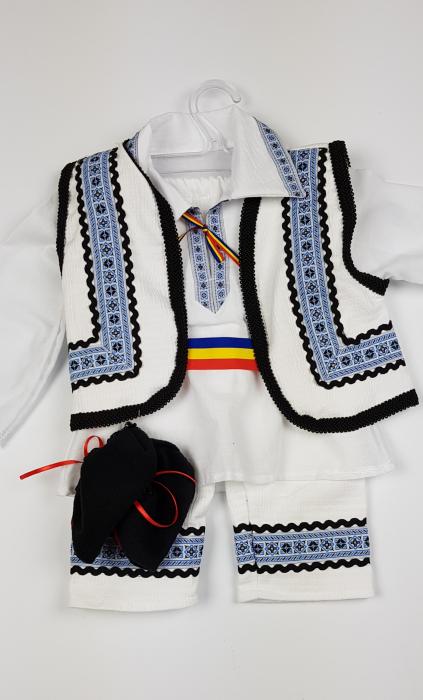 Costum Traditional Baietei 0-12 luni 1