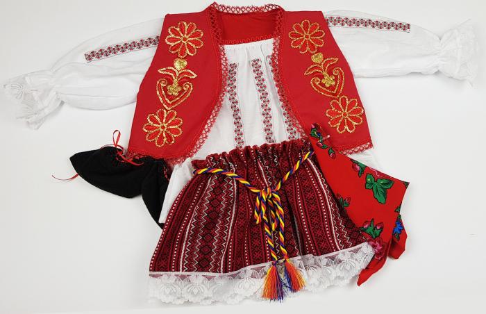 Costum Traditional Fetite 3-12 luni Aurica 0
