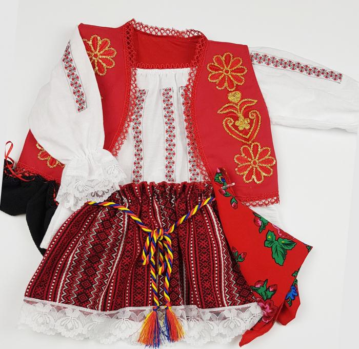 Costum Traditional Fetite 3-12 luni Aurica 1