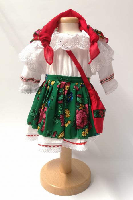 Costum Traditional Fetite Verde – 4 piese (1-6 ani ) 4