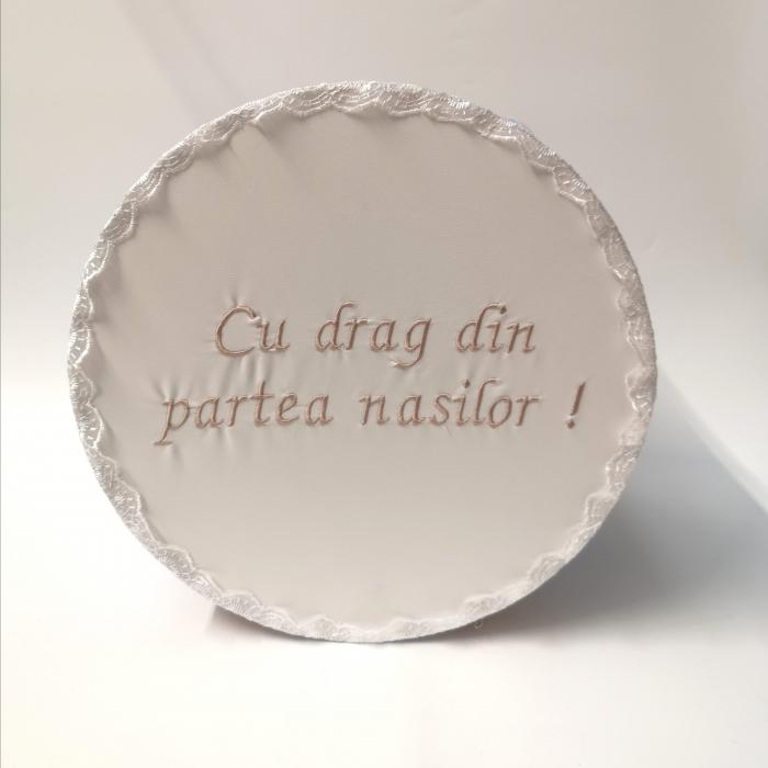 """Cutie pentru botez cu broderie """"Cu drag din partea nasilor"""" 4 [1]"""