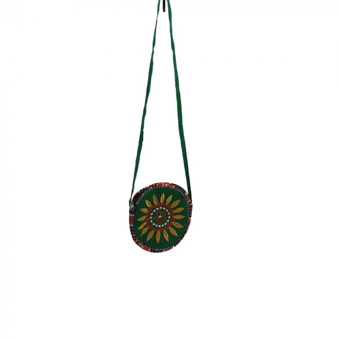 Geanta stilizata cu motive traditionale cu floare 2 [0]