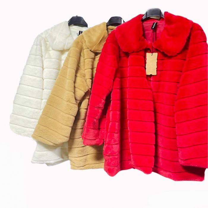 Jacheta din blana sintetica - alb [1]