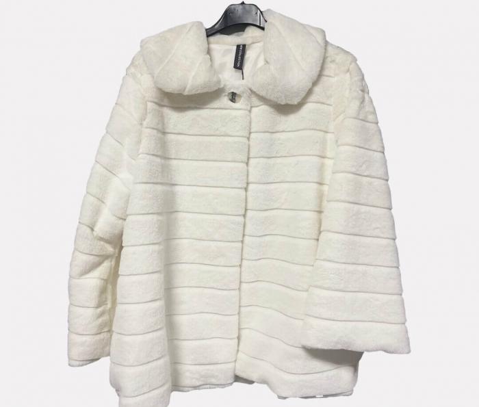 Jacheta din blana sintetica - alb [0]