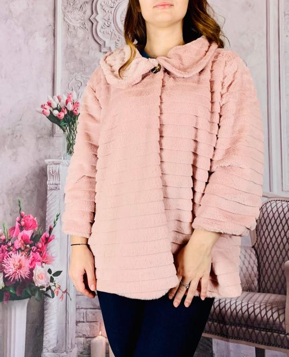 Jacheta din blana sintetica - roz [0]